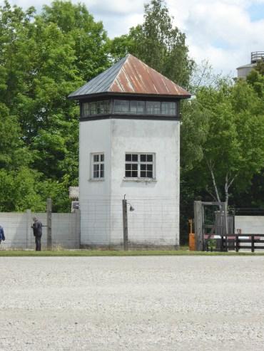 Guard tower at Dachau