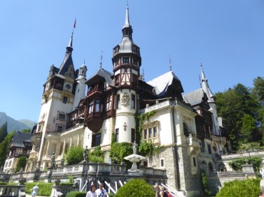Outside of Peles Castle