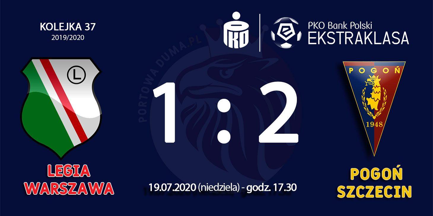 Ostatni mecz  (Legia Warszawa - Pogoń Szczecin) zakończony 3 punktami