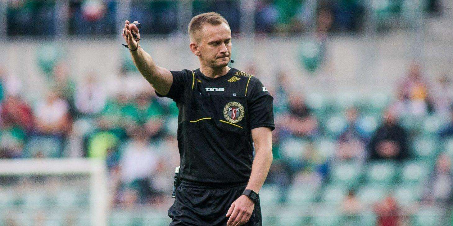 Piotr Lasyk arbitrem meczu ze Śląskiem Wrocław