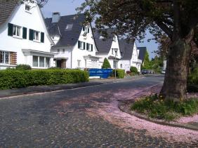 typischer Straßenzug in der Gartenstadt | Bildrechte: nickneuwald