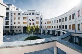 Rotunden-Hof mit Townhouses | Bildrechte: INTERBODEN Gruppe