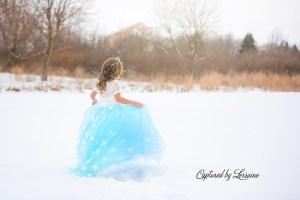Snow photoshoot illinois