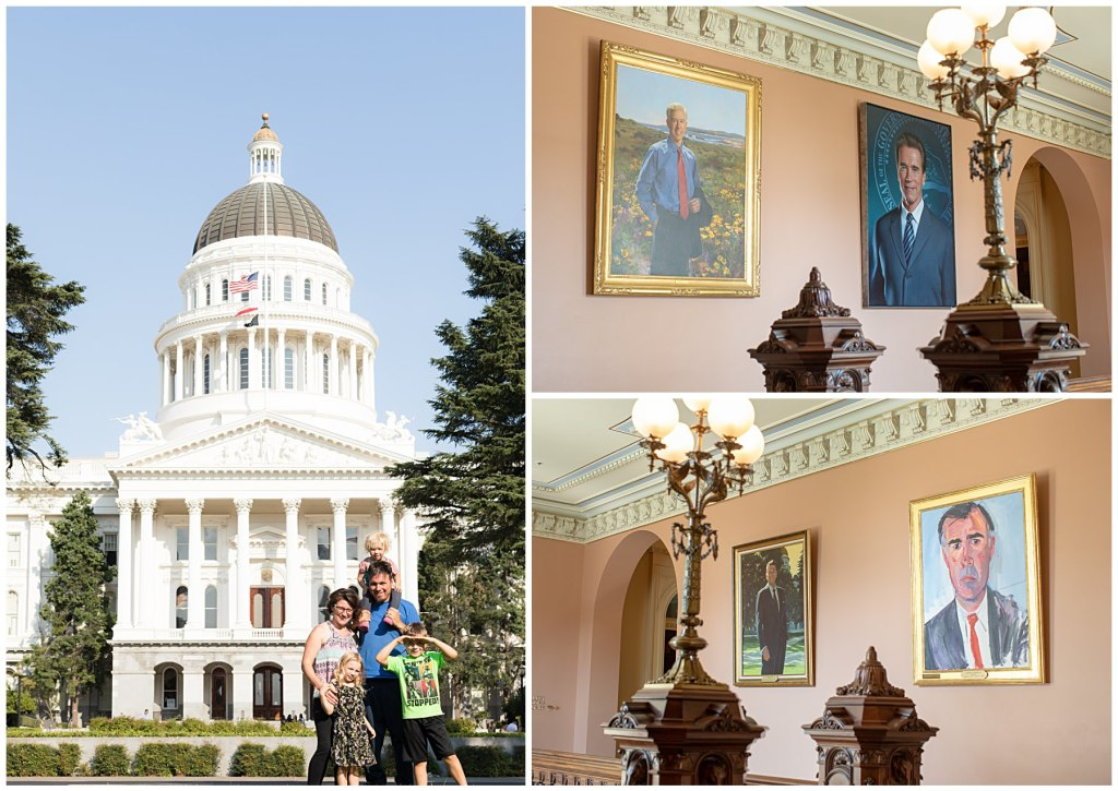 sacramento capital building and governor portraits