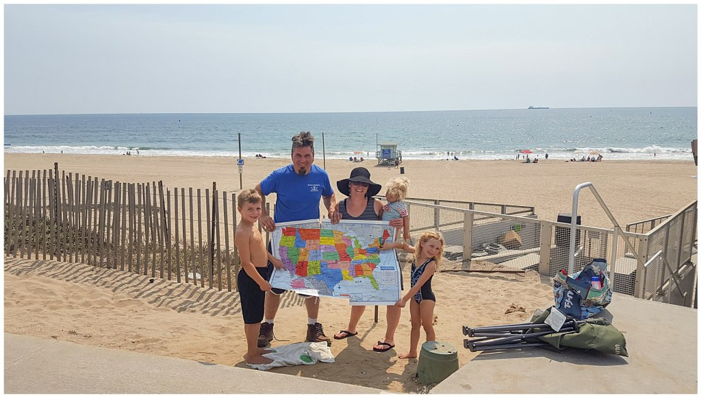 family road trip to the pacific ocean