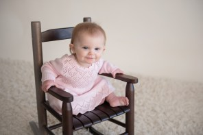 baby rocking in chair