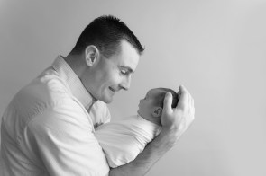 dad and baby profiles