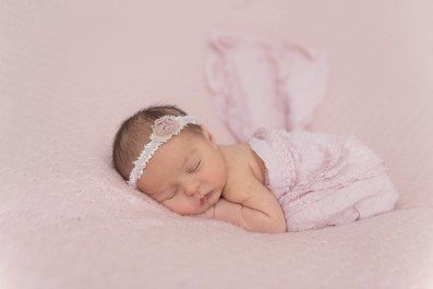 baby girl pretty in pink
