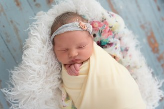 yellow floral newborn wrap