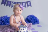 birthday girl smash cake purple