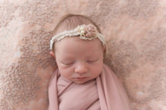 dusty rose baby girl pink