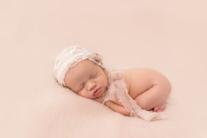 Baby Girl in lace bonnet