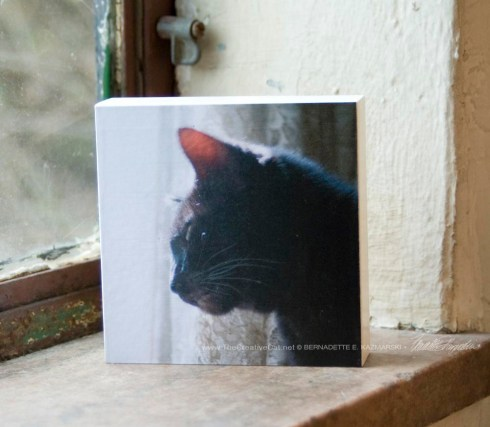 """Mimi"" wood-mounted photo."
