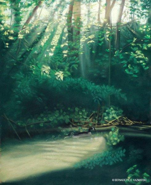 """""""Morning on the Creek"""", pastel, 22"""" x 29"""", 2008 © Bernadette E. Kazmarski"""