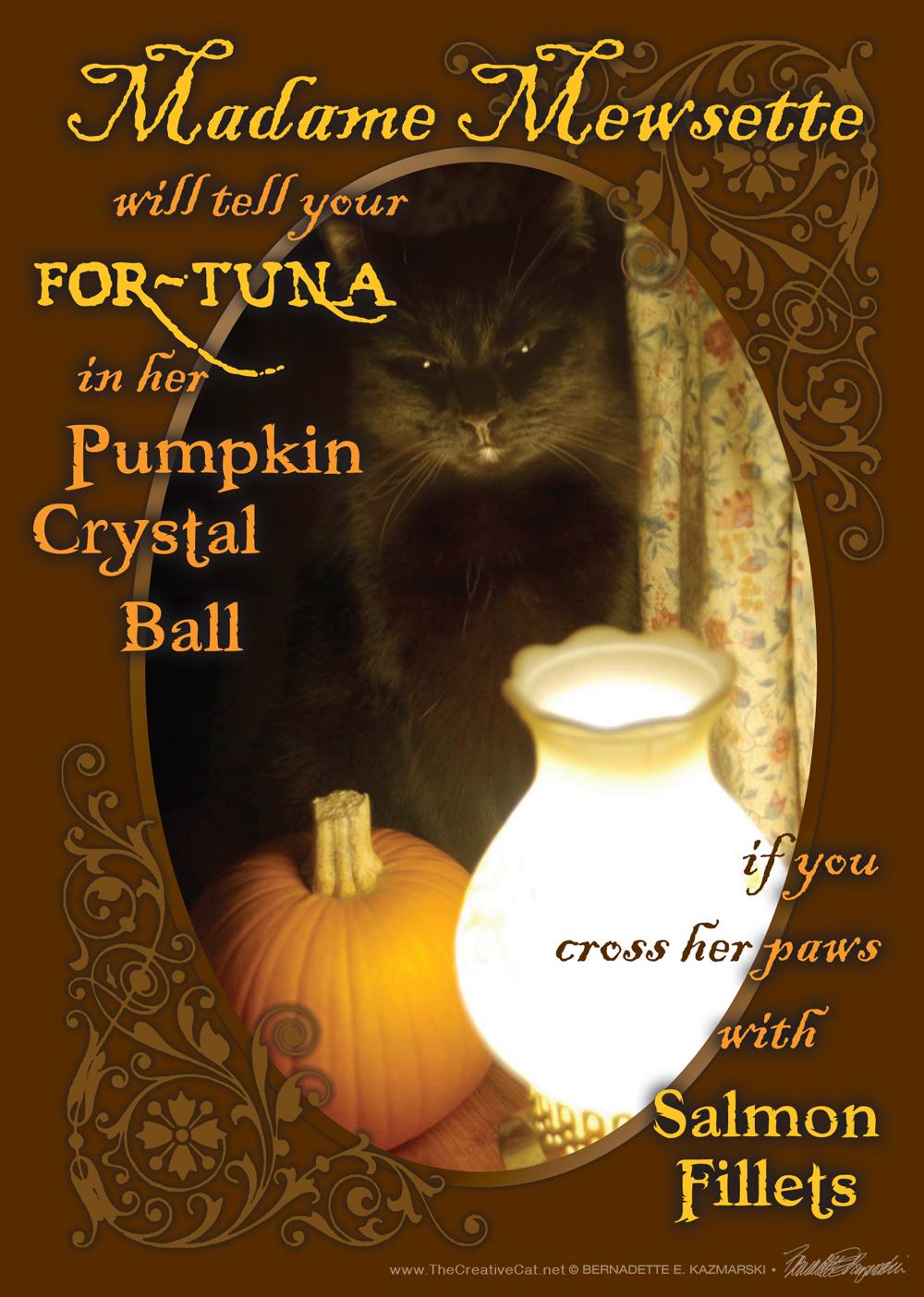 Madame Mewsette Halloween Card