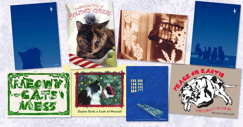 Tis Almost the Seasons for Feline-themed Holiday Cards