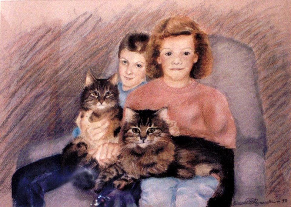 The Grandchildren, pastel, 1993 © B.E. Kazmarski