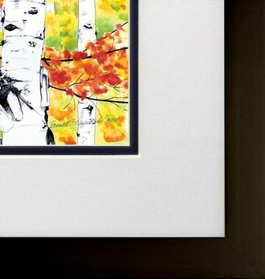 Birches 1, framed.