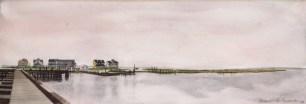 Sunset on the Bay, watercolor, 24 x 18, 1993 © Bernadette E. Kazmarski