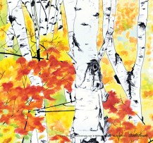 Birches 2, detail.
