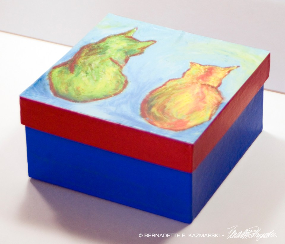 Two Cats After van Gogh Keepsake Box