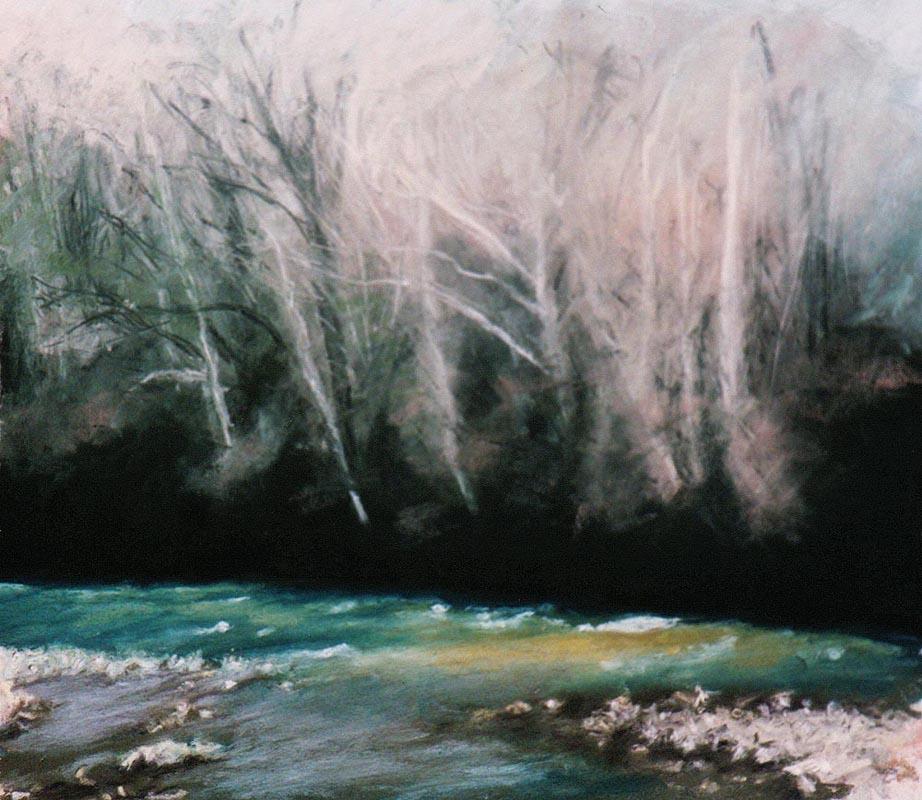 """Spring Thaw"", 8"" x 10"", pastel, 2003 © Bernadette E. Kazmarski"