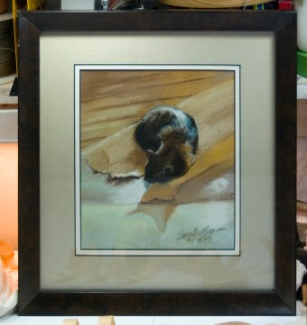 Tonal Nap, framed.