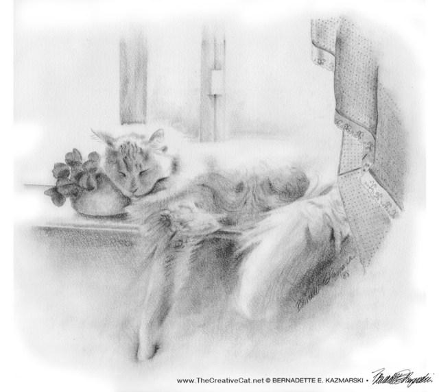 "Sleeping Beauty, pencil, 1987, 18"" x 15"" © B.E. Kazmarski"
