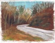 """Winter Trail, 10"""" x 12"""", pastel © Bernadette E. Kazmarski"""