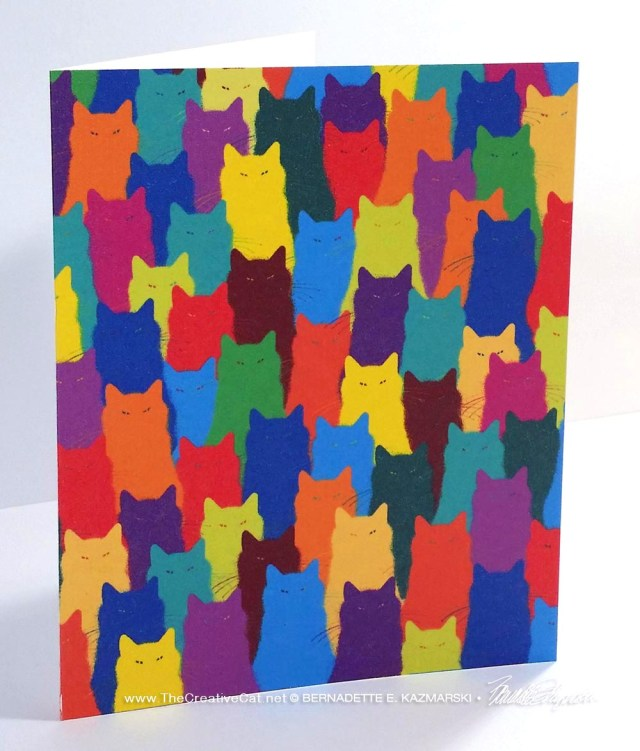 """""""Inscrutable Patterns"""" note card."""