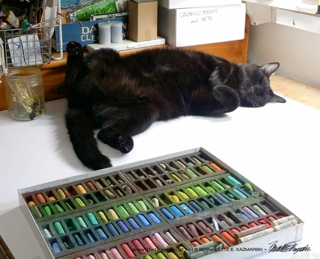 Mr. Sunshine has been a great help as I work in my studio.