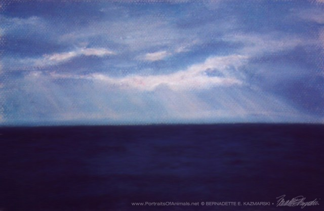 "The Silent Lake, pastel, 7"" x 10"", 1999 © Bernadette E. Kazmarski"