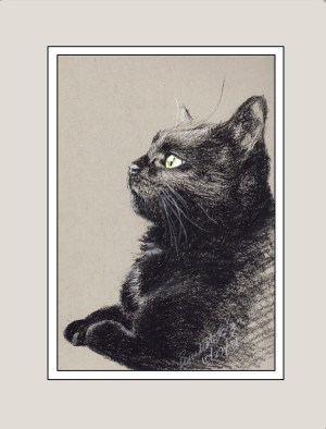 """Bella Birdwatching"" matted sample."