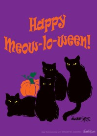Happy Meow-lo-ween desin