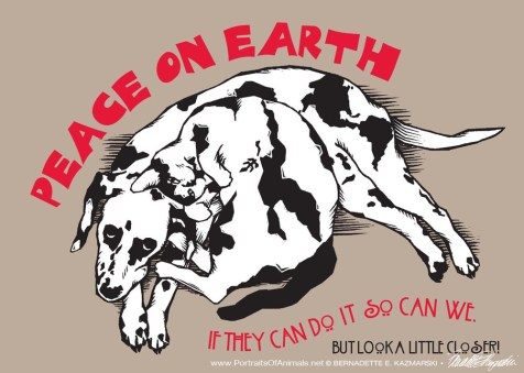 """""""A Cat Named Peace, A Dog Named Earth"""", holiday card"""