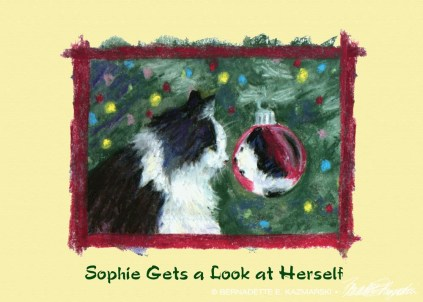 Sophie Gets a Look at Herself, holiday card