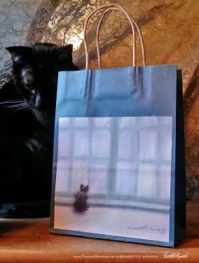 Winter Window Winter Cats Gift Bag