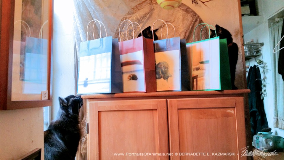 Winter Cats Gift Bags