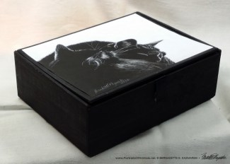 """Black and Light"" cigar box keepsake, sides."