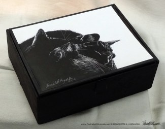 """Black and Light"" cigar box keepsake."