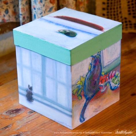 Winter Cats Keepsake box.