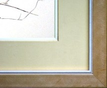 The mat and frame on the original drawing.