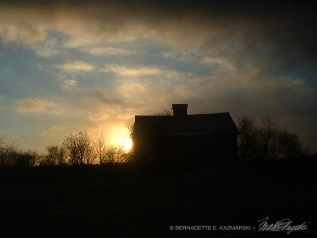 Sunset Behind the Barn