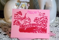 Pnk card, red ink