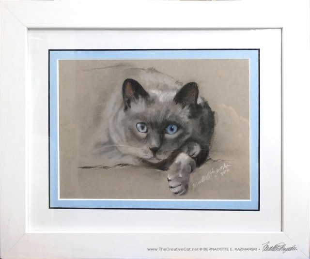 Chloe, matted and framed.