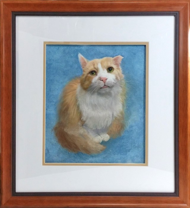 Tommy, framed.
