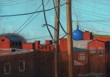 Touched By Evening, pastel on black Art Spectrum sanded, 8.5 x 12 õ Bernadette E. Kazmarski