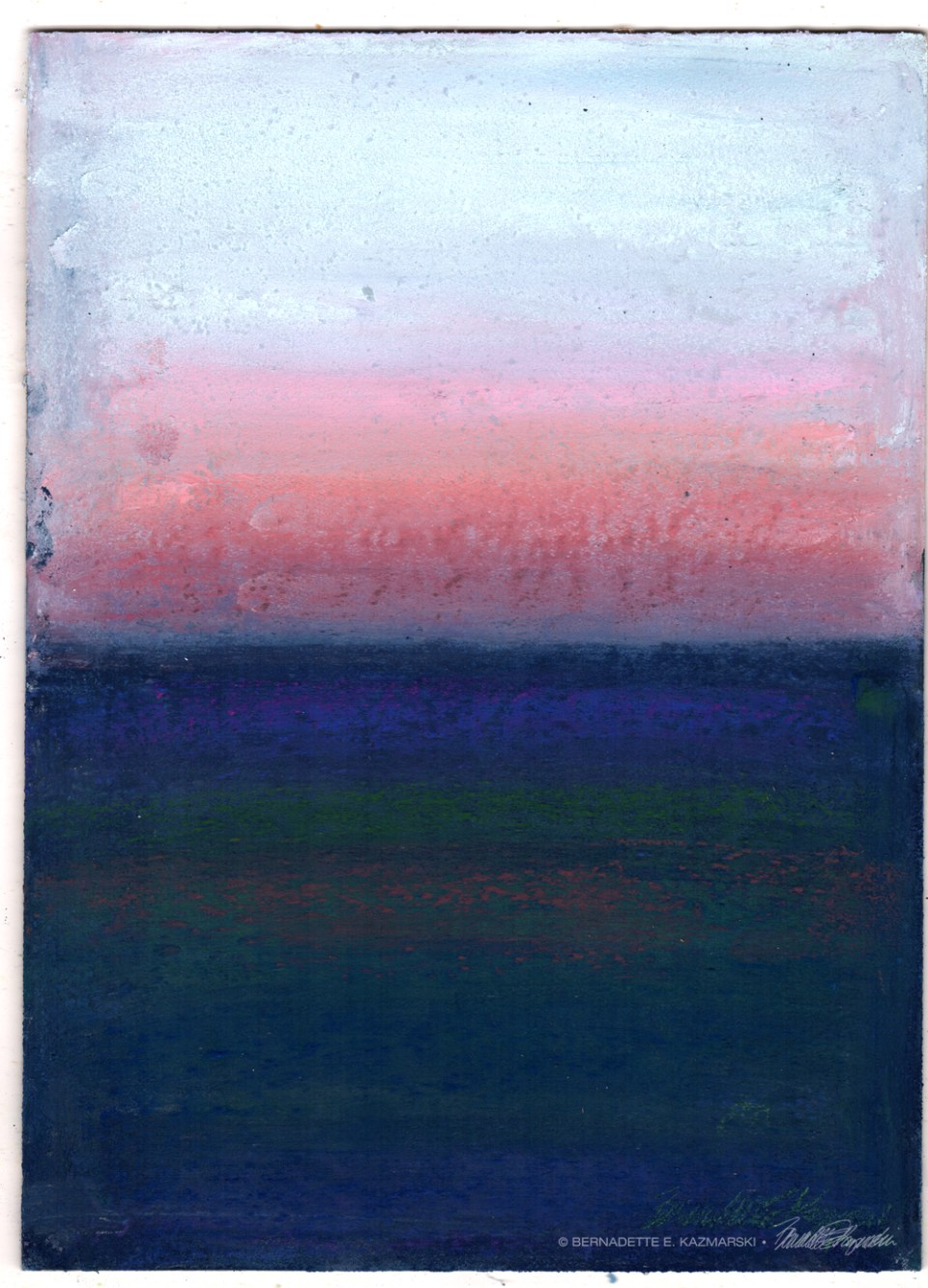 Winter Sunset, After Rothko, pastel on prepared board, 8 x 11 © Bernadette E. Kazmarski
