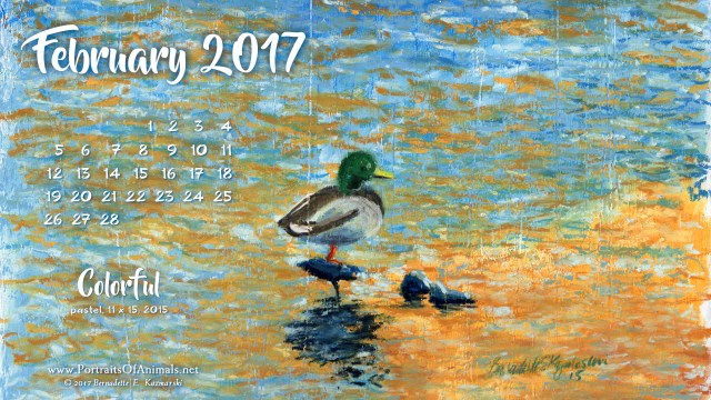 """""""Colorful"""" desktop calendar 2560 x 1440 for HD and wide screens."""