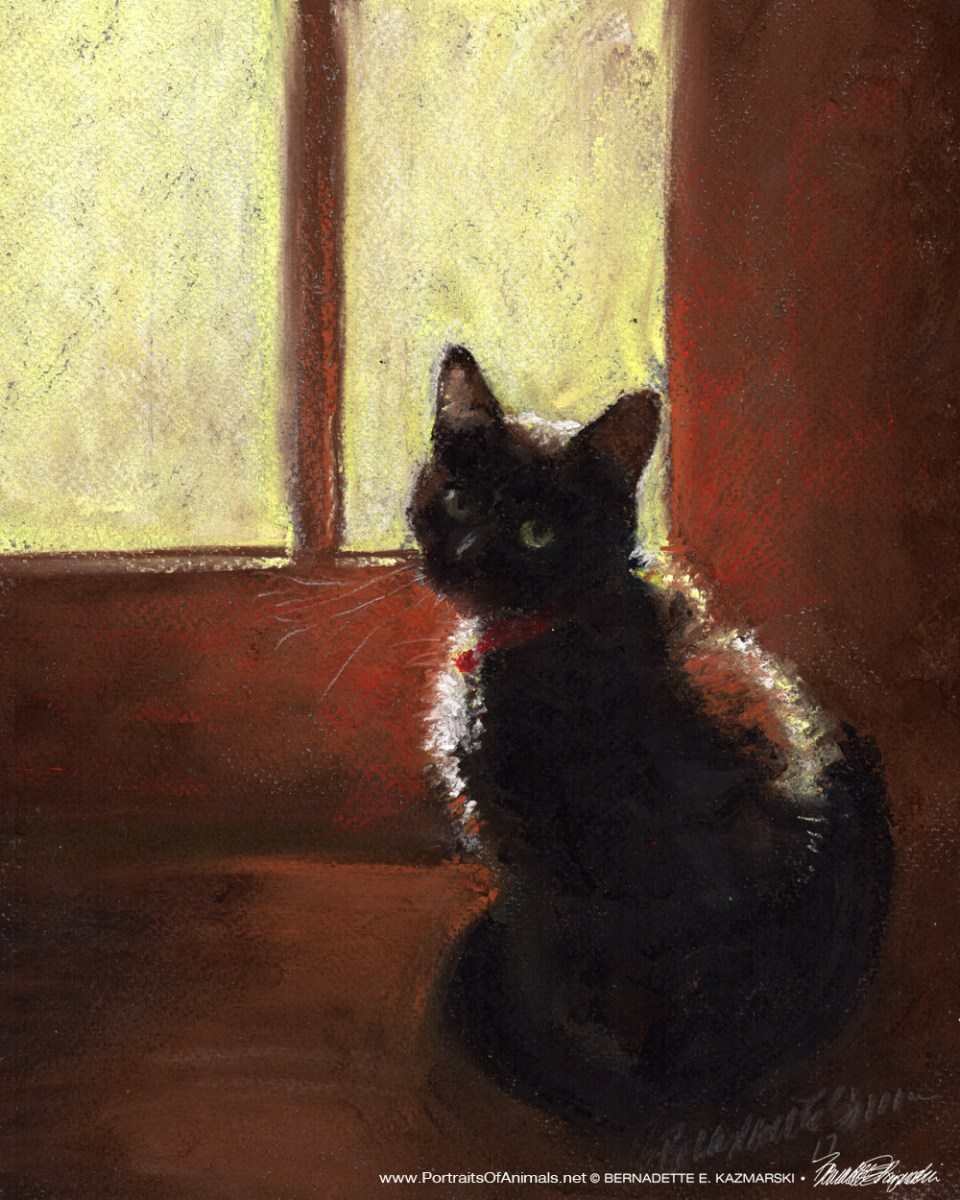 """We're Going Outside, Right?"", pastel on pastello paper, 8 x 10 © Bernadette E. Kazmarski"